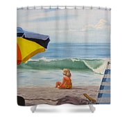 Beach Scene - Childhood Shower Curtain