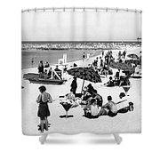Beach Scene At Cape Cod Shower Curtain