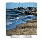 Beach Scene California  Shower Curtain