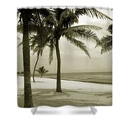 Beach Scene In Key West Shower Curtain