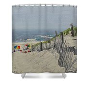 Beach Scene Miniature Shower Curtain
