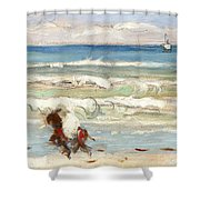 Beach Scene Tangier Shower Curtain