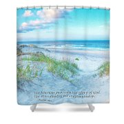 Beach Scripture Verse  Shower Curtain