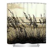 Beach - Sepia Shower Curtain