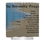Beach Serenity Prayer Shower Curtain