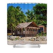 Beach Side Nipa Hut Shower Curtain
