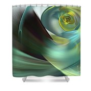 Beach Spiral Shower Curtain