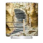 Beach Stairs Shower Curtain
