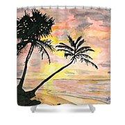 Beach Sunrise Shower Curtain