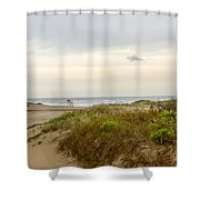 Beach Sunrise At South Padre Island, Tx Shower Curtain