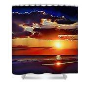 Beach Sunset 5184 Shower Curtain