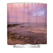Beach Sunset In Connecticut Landscape Shower Curtain