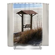 Beach Swing Shower Curtain