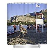 Beach Throw Down Shower Curtain