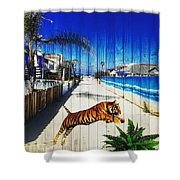 Beach Tiger  Shower Curtain