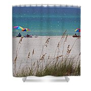 Beach Time At The Gulf - Before The Oil Spill Disaster Shower Curtain