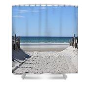 Beach Time Entrance Shower Curtain