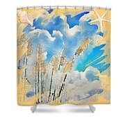 Beach Tote With Toi Toi Grass Shower Curtain