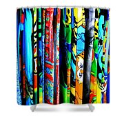 Beach Towels Shower Curtain by Perry Webster