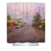 Beach Town Shower Curtain