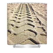 Beach Tracks Shower Curtain