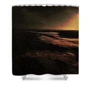 Beach Tree Shower Curtain by Richard Ricci
