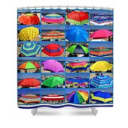 Beach Umbrella Medley Shower Curtain