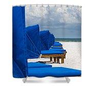 Beach Umbrellas 3 By Darrell Hutto Shower Curtain