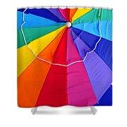 Beach Umbrella's Cell Phone Art Shower Curtain