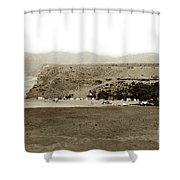 Beach View At Santa Monica Circa 1880 Shower Curtain