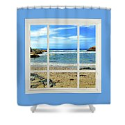 Beach View From Your Living Room Window Shower Curtain
