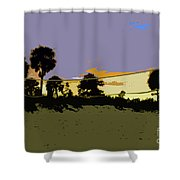 Beach Volley Ball Shower Curtain