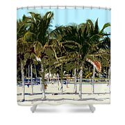 Beach Volleyball Shower Curtain