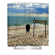 Beach Walking Shower Curtain