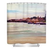 Beach Warmth Shower Curtain