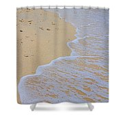 Beach Water Curves Shower Curtain