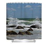 Beach Waves001 Shower Curtain
