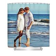 Beach Wedding Shower Curtain