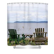 Beach With A View Shower Curtain