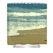 Beachcombers Walk Shower Curtain