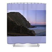 Beached Dragon Shower Curtain