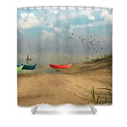 Beached... Shower Curtain
