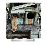 Beachfront Birdhouse For Rent 1 Shower Curtain