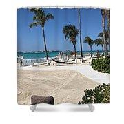 Beachfront Patio Shower Curtain