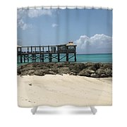 Beachfront Pier Shower Curtain
