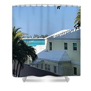 Beachfront Property Shower Curtain