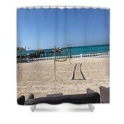 Beachfront Vollyball Shower Curtain