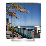 Beachland Boulevard At Vero Beach In Florida Shower Curtain