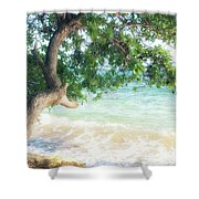 Beachscape Tree Shower Curtain