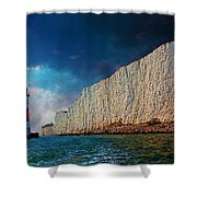 Beachy Head Lighthouse And Cliffs Shower Curtain